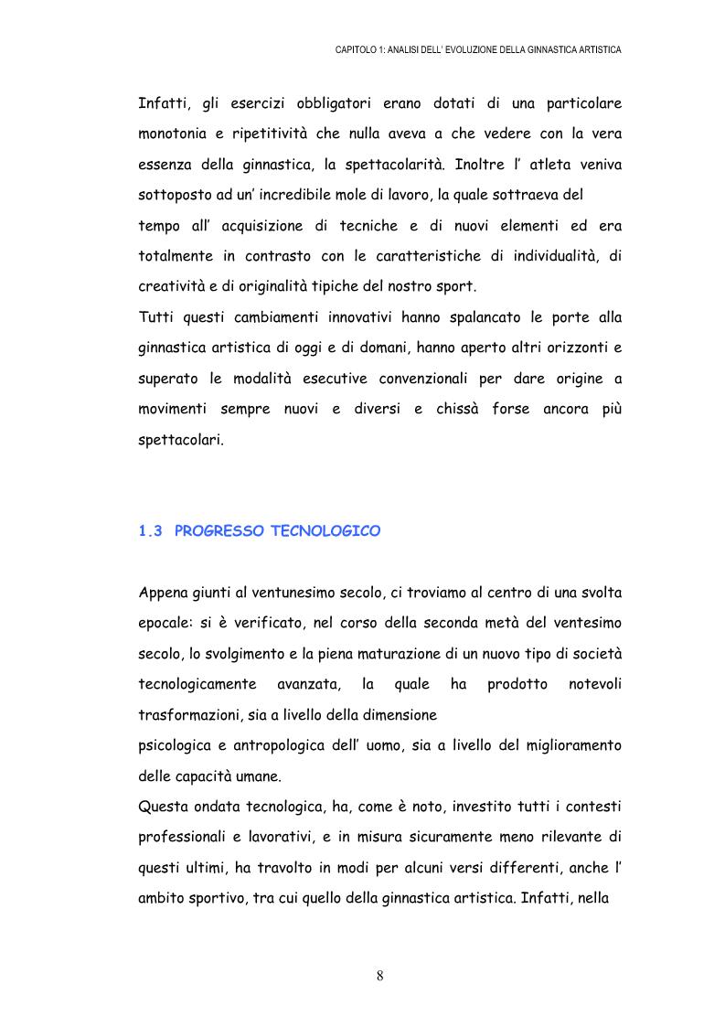 Anteprima della tesi: Le grandi difficoltà tecniche nella ginnastica artistica femminile, Pagina 11
