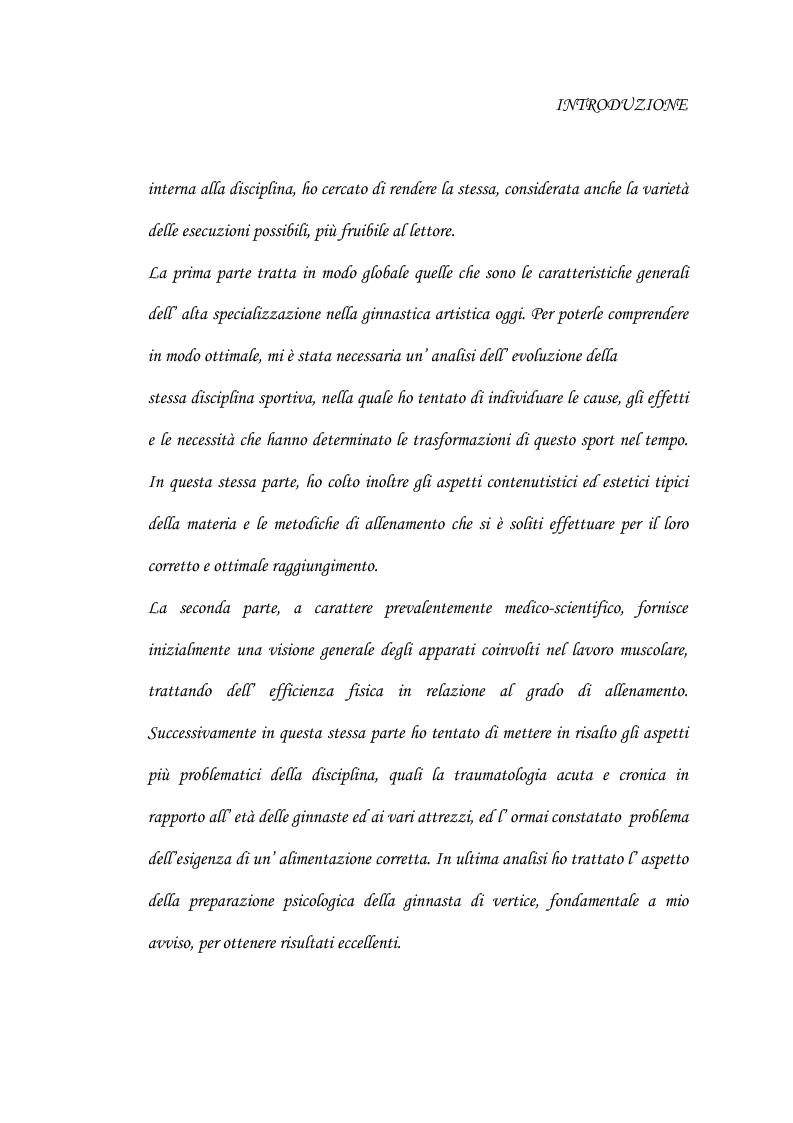 Anteprima della tesi: Le grandi difficoltà tecniche nella ginnastica artistica femminile, Pagina 2