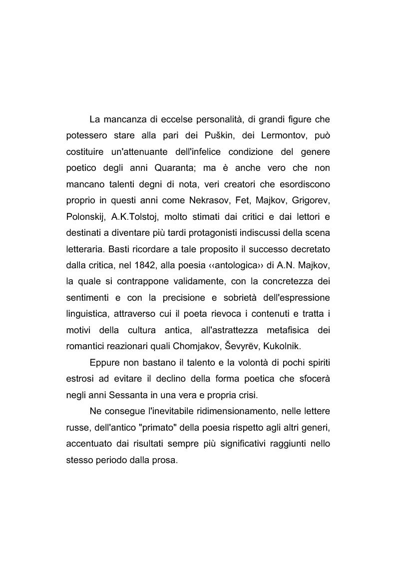 Anteprima della tesi: Riflessi italiani, antichi e moderni, nella poesia di Apollon Nikolaevič Majkov, Pagina 11