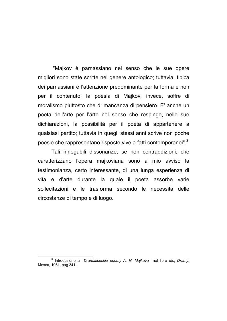 Anteprima della tesi: Riflessi italiani, antichi e moderni, nella poesia di Apollon Nikolaevič Majkov, Pagina 5