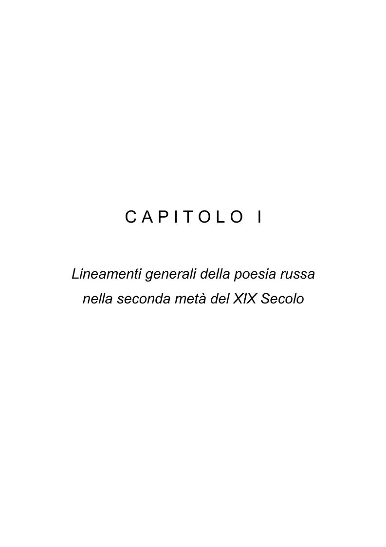 Anteprima della tesi: Riflessi italiani, antichi e moderni, nella poesia di Apollon Nikolaevič Majkov, Pagina 6