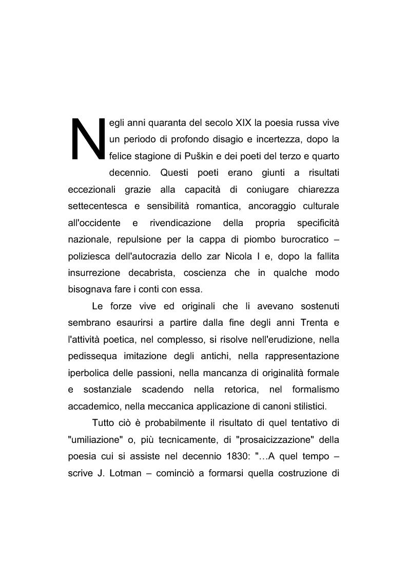 Anteprima della tesi: Riflessi italiani, antichi e moderni, nella poesia di Apollon Nikolaevič Majkov, Pagina 7