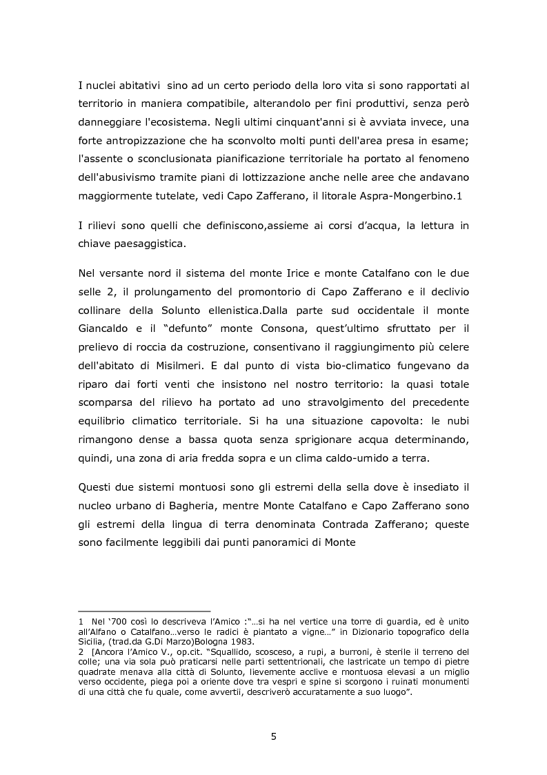 Anteprima della tesi: Da Mongerbino a S. Elia: progetti per l'istituzione di una riserva orientata, Pagina 2