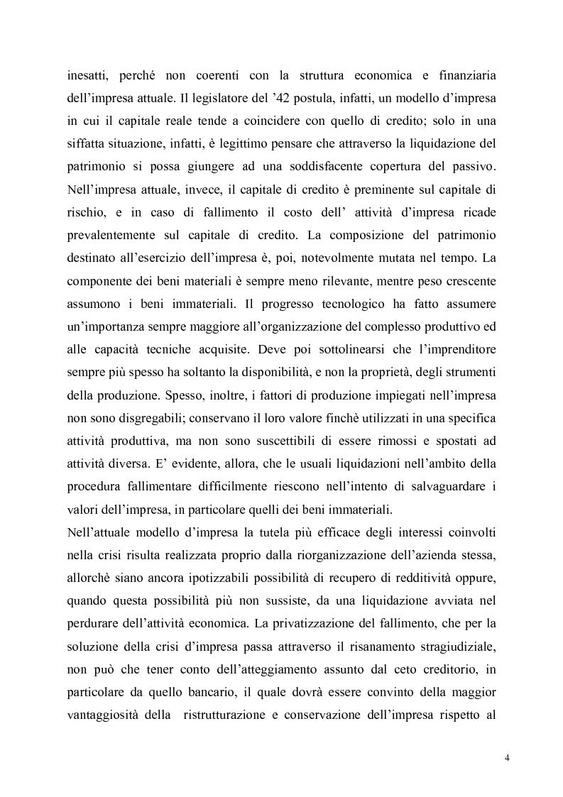 Anteprima della tesi: La soluzione stragiudiziale della crisi d'impresa, Pagina 4