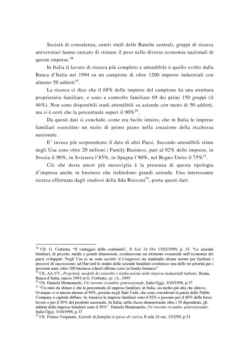 Anteprima della tesi: La successione imprenditoriale e lo sviluppo di conoscenza nell'impresa familiare, Pagina 15