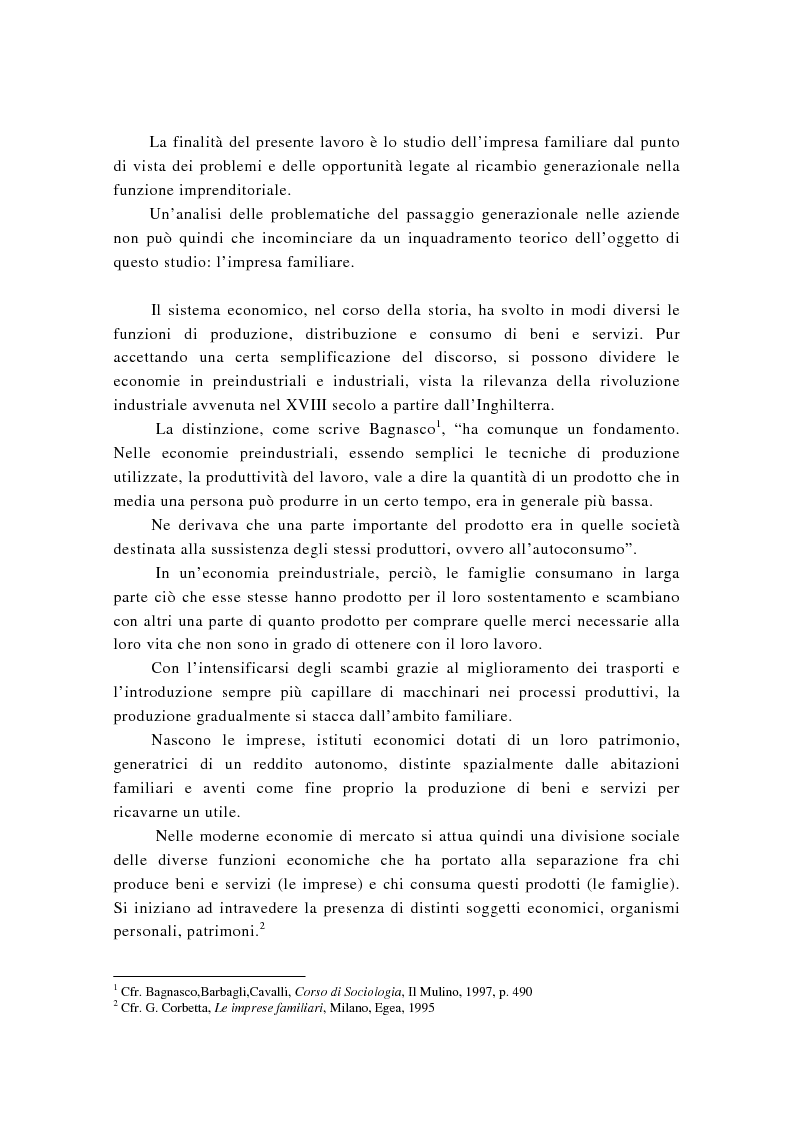 Anteprima della tesi: La successione imprenditoriale e lo sviluppo di conoscenza nell'impresa familiare, Pagina 6