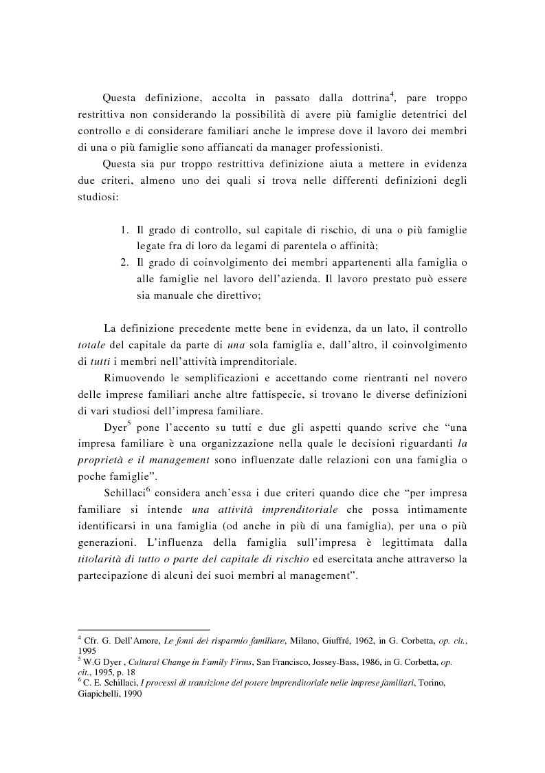 Anteprima della tesi: La successione imprenditoriale e lo sviluppo di conoscenza nell'impresa familiare, Pagina 8