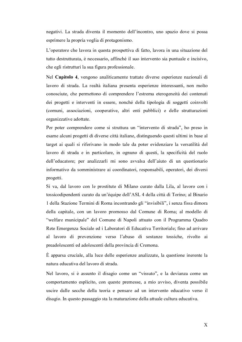 Anteprima della tesi: Il lavoro sociale di strada tra devianze e forme di controllo: il ruolo dell'educatore, Pagina 6