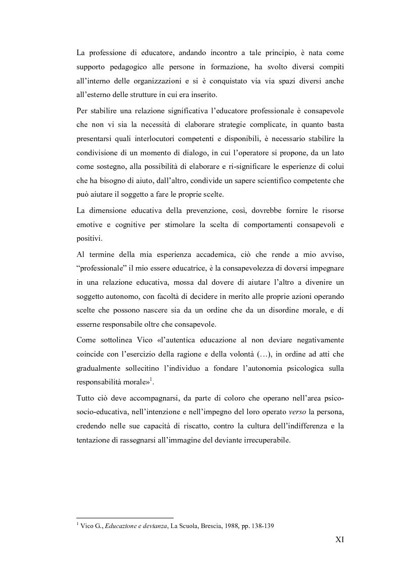 Anteprima della tesi: Il lavoro sociale di strada tra devianze e forme di controllo: il ruolo dell'educatore, Pagina 7