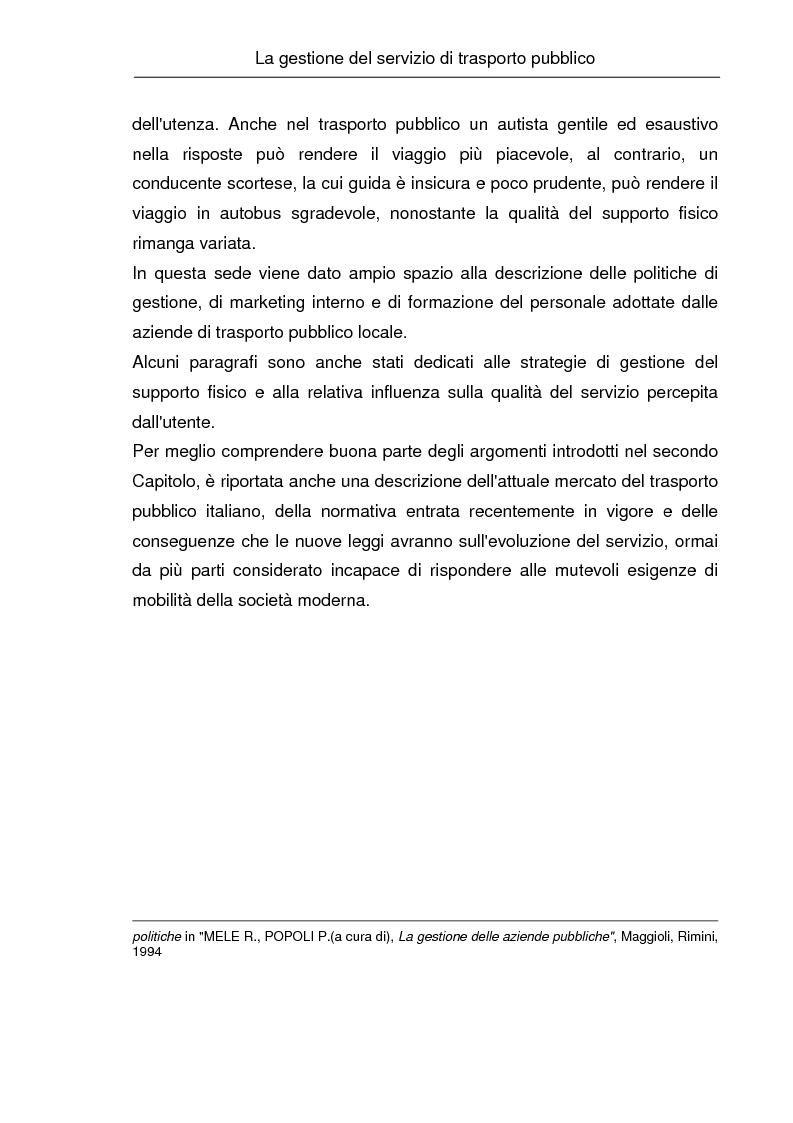 Anteprima della tesi: La comunicazione istituzionale e la gestione delle relazioni esterne nelle aziende pubbliche di trasporto. Il caso ''Brescia Trasporti'', Pagina 10