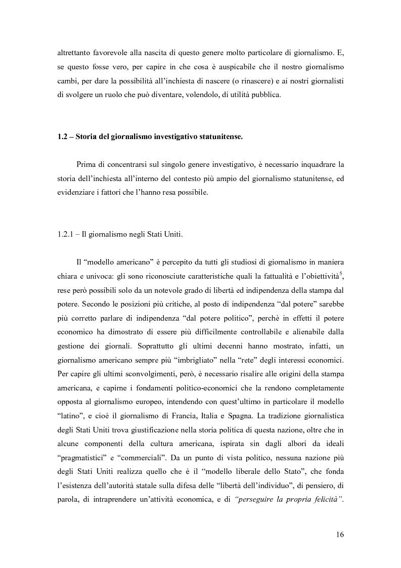 Anteprima della tesi: Il giornalismo investigativo in Italia: il caso Lockheed, Pagina 12