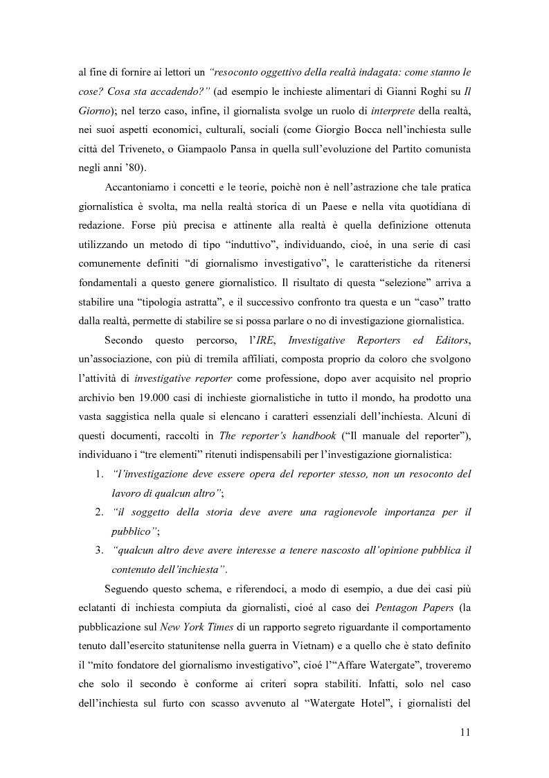Anteprima della tesi: Il giornalismo investigativo in Italia: il caso Lockheed, Pagina 7