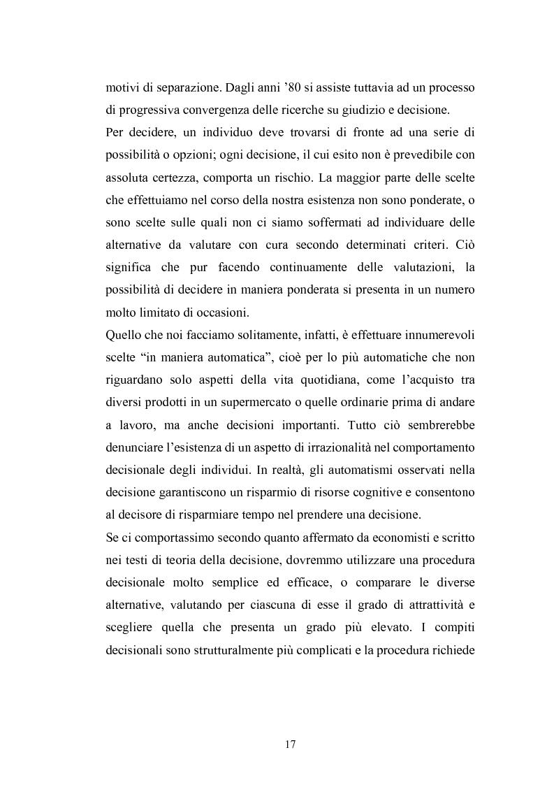 Anteprima della tesi: I complessi processi decisionali e i riflessi sul comportamento del consumatore nel contesto di marketing, Pagina 13