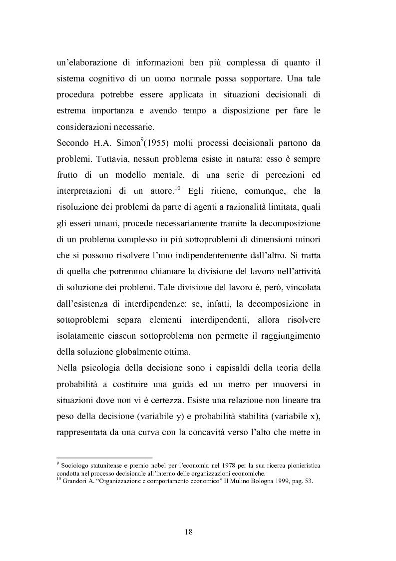 Anteprima della tesi: I complessi processi decisionali e i riflessi sul comportamento del consumatore nel contesto di marketing, Pagina 14