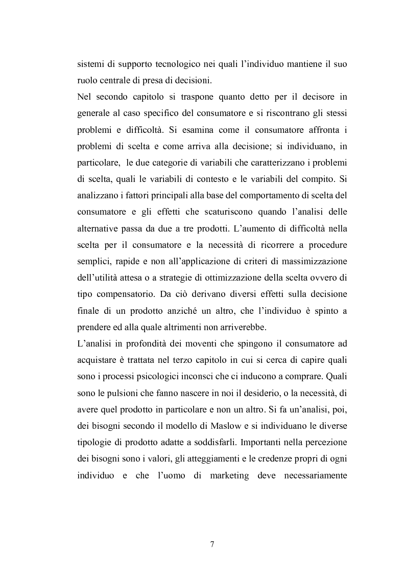Anteprima della tesi: I complessi processi decisionali e i riflessi sul comportamento del consumatore nel contesto di marketing, Pagina 3