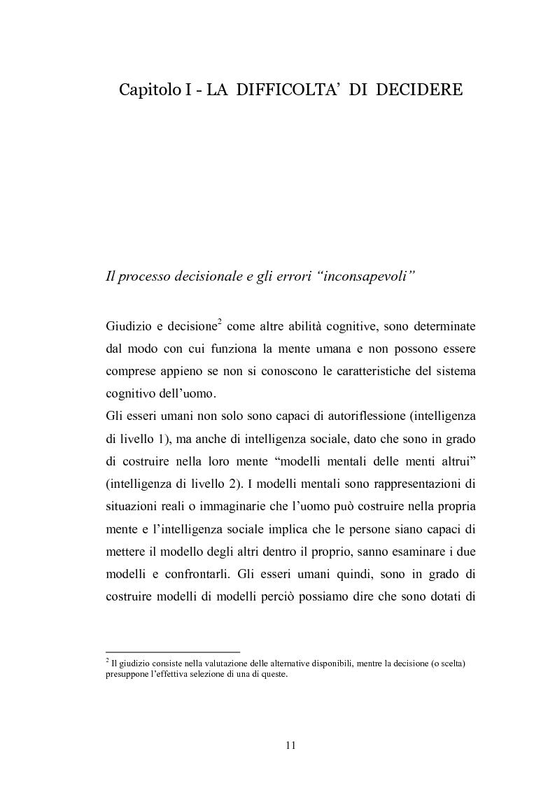 Anteprima della tesi: I complessi processi decisionali e i riflessi sul comportamento del consumatore nel contesto di marketing, Pagina 7