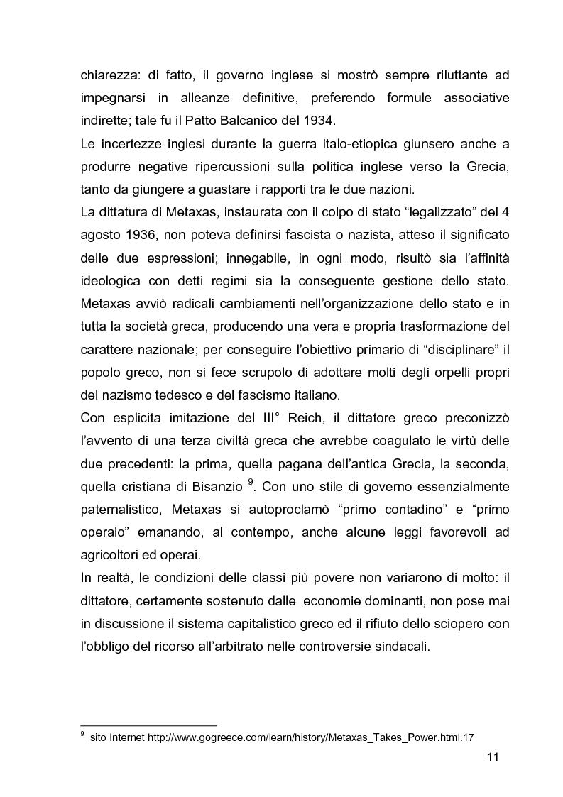 Anteprima della tesi: La guerra civile in Grecia, il declino della potenza britannica e l'affermarsi dell'egemonia americana sull'Europa Occidentale, Pagina 11