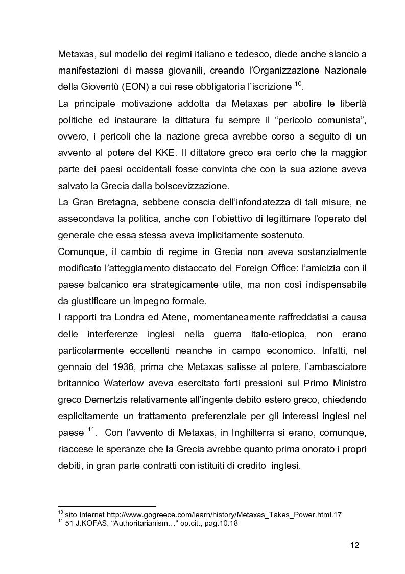 Anteprima della tesi: La guerra civile in Grecia, il declino della potenza britannica e l'affermarsi dell'egemonia americana sull'Europa Occidentale, Pagina 12