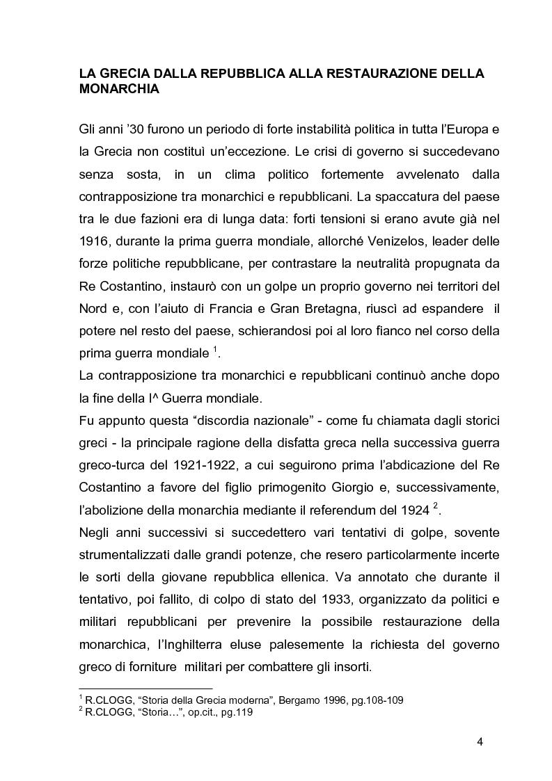 Anteprima della tesi: La guerra civile in Grecia, il declino della potenza britannica e l'affermarsi dell'egemonia americana sull'Europa Occidentale, Pagina 4