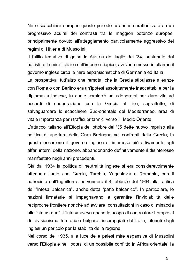 Anteprima della tesi: La guerra civile in Grecia, il declino della potenza britannica e l'affermarsi dell'egemonia americana sull'Europa Occidentale, Pagina 5