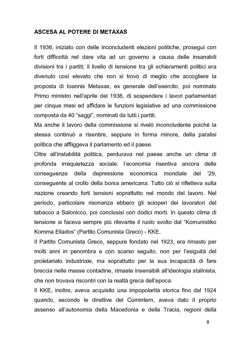 Anteprima della tesi: La guerra civile in Grecia, il declino della potenza britannica e l'affermarsi dell'egemonia americana sull'Europa Occidentale, Pagina 8