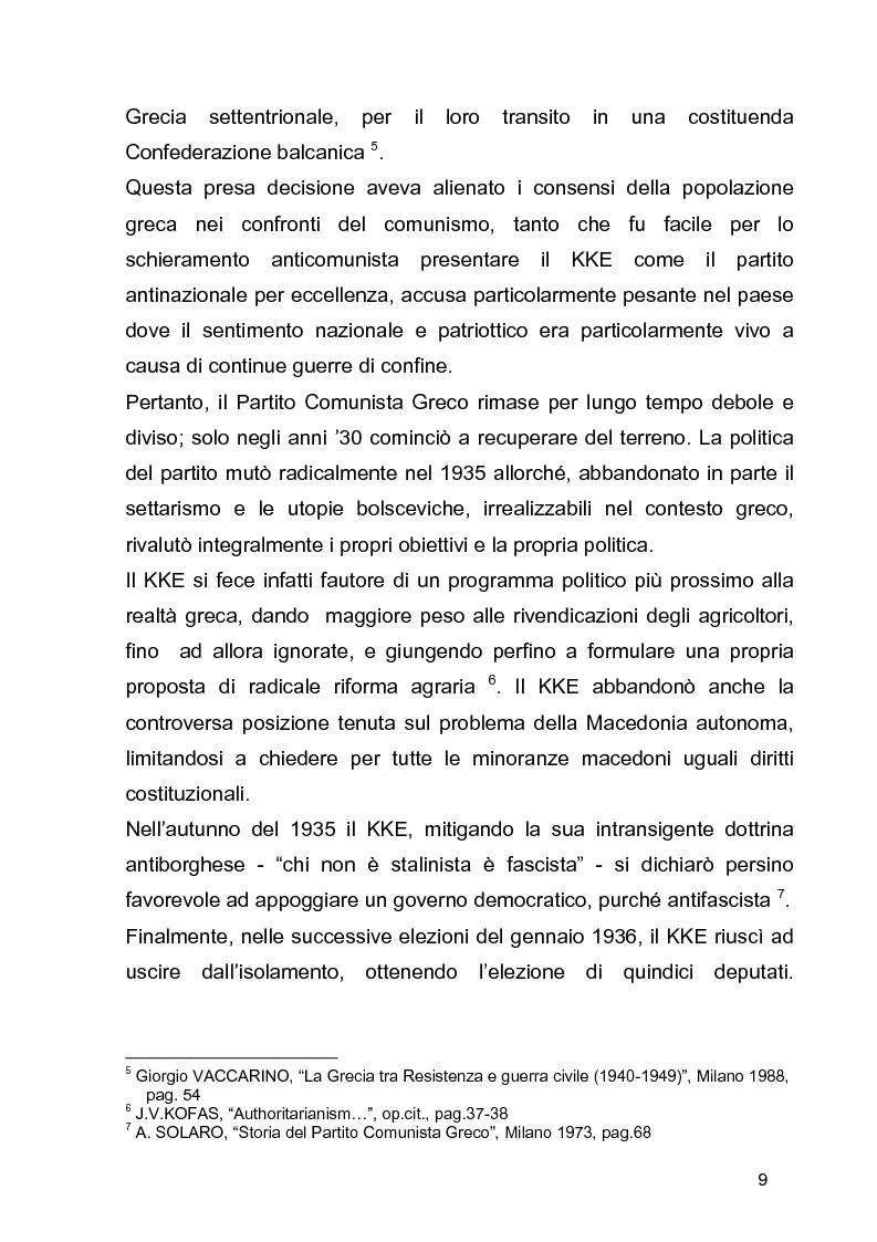 Anteprima della tesi: La guerra civile in Grecia, il declino della potenza britannica e l'affermarsi dell'egemonia americana sull'Europa Occidentale, Pagina 9