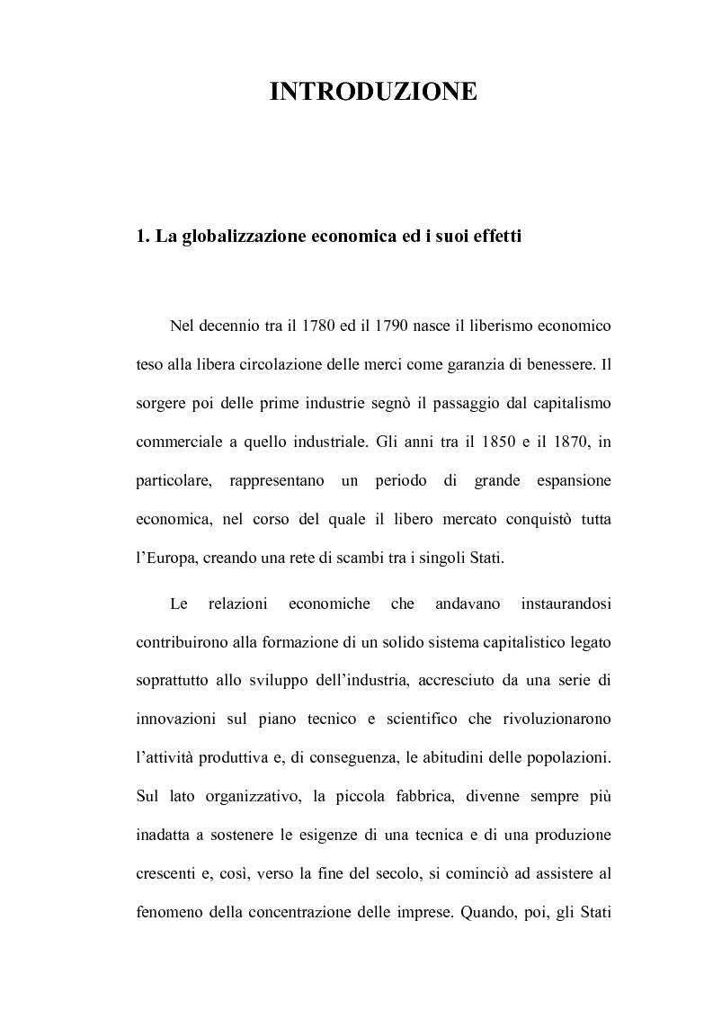 Anteprima della tesi: Il commercio equo e solidale: indagine sugli acquirenti delle ''Botteghe del Mondo'' di Bari e provincia, Pagina 1