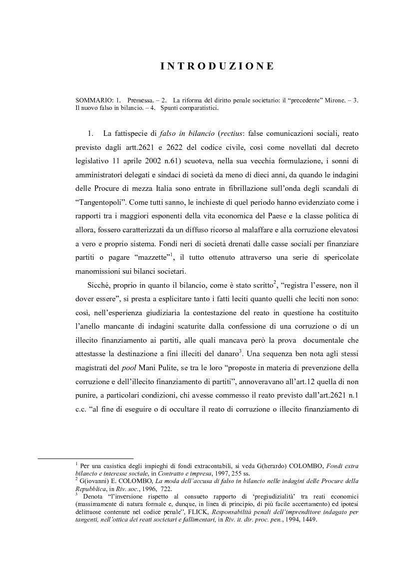 Anteprima della tesi: Il falso in bilancio, Pagina 1