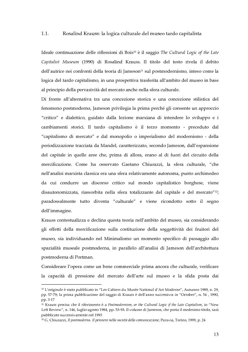 Anteprima della tesi: Il museo postmoderno tra filosofia e pratica culturale, Pagina 10