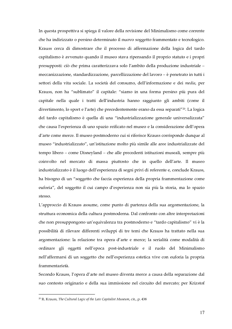 Anteprima della tesi: Il museo postmoderno tra filosofia e pratica culturale, Pagina 14