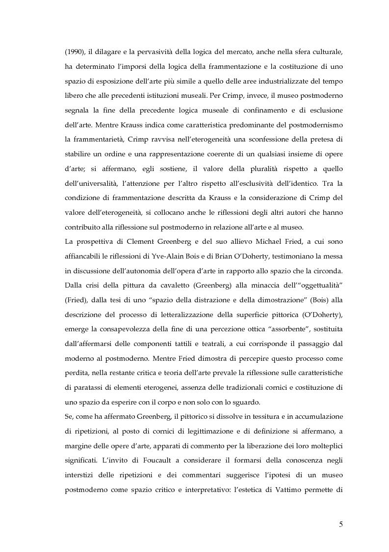 Anteprima della tesi: Il museo postmoderno tra filosofia e pratica culturale, Pagina 2