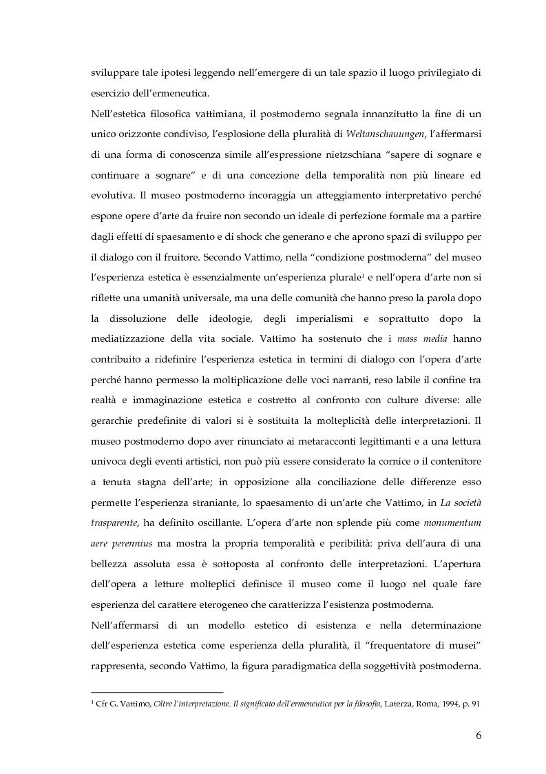 Anteprima della tesi: Il museo postmoderno tra filosofia e pratica culturale, Pagina 3
