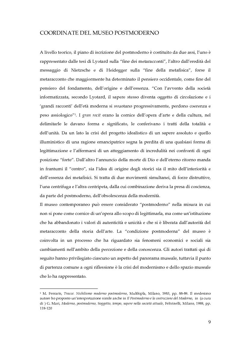 Anteprima della tesi: Il museo postmoderno tra filosofia e pratica culturale, Pagina 6