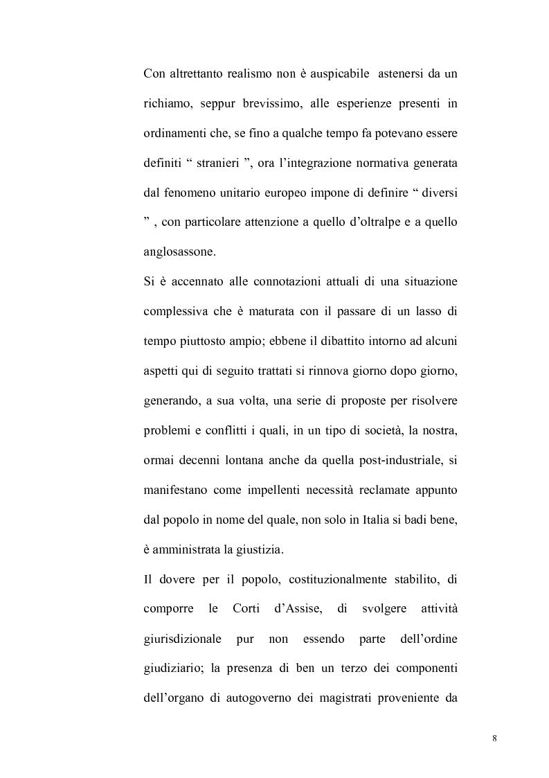 Anteprima della tesi: Democrazia partecipativa e attività giurisdizionale: il controllo dell'opinione pubblica sull'attività giudiziaria, Pagina 2