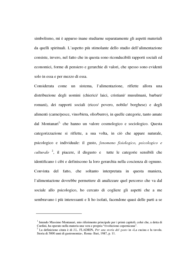 Anteprima della tesi: Mangiare e bere nel Medioevo: valenza sociale, economica, culturale e religiosa del cibo anche attraverso i ricettari, Pagina 3