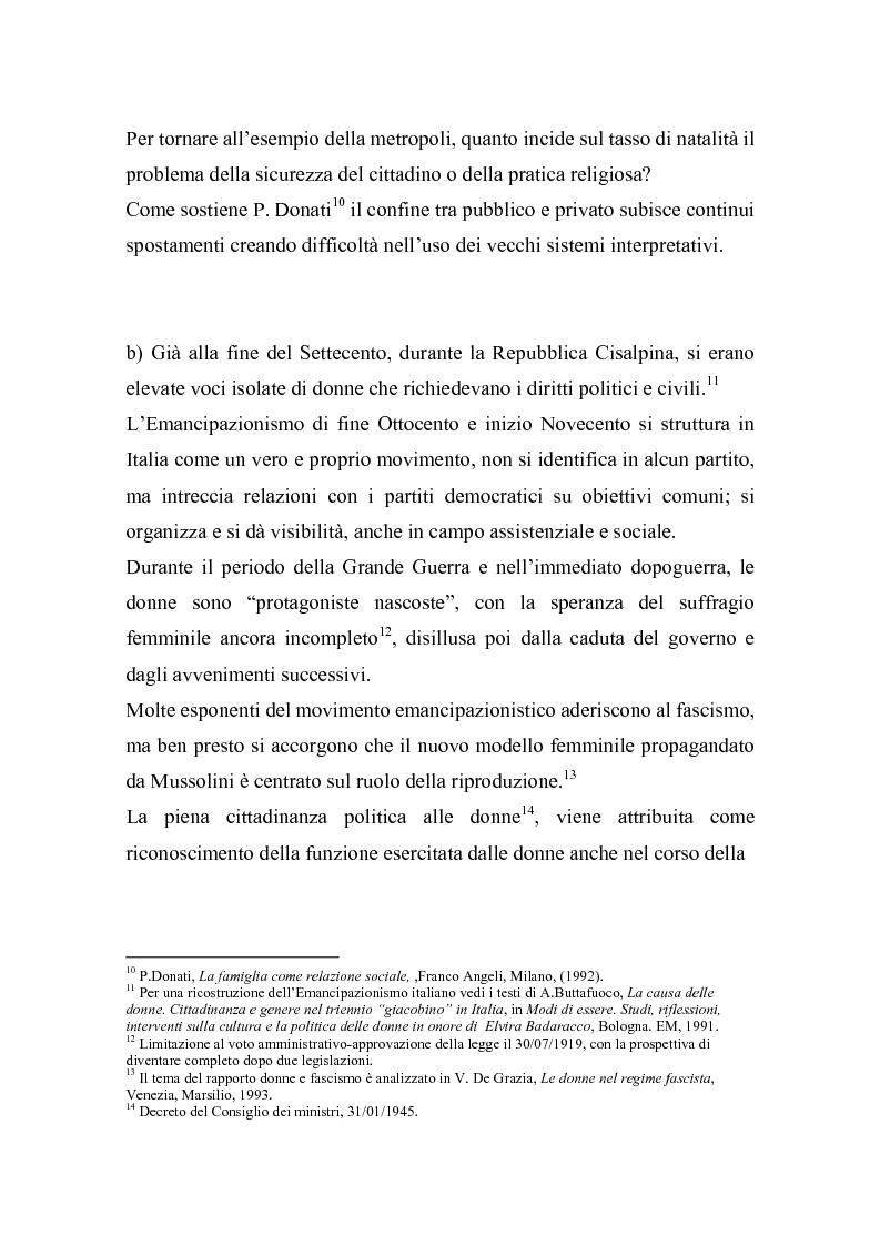 Anteprima della tesi: La doppia presenza della donna - Organizzazione in ambito familiare e professionale, Pagina 8