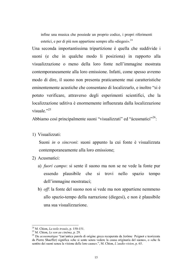 Anteprima della tesi: L'interazione suono-immagine nel cinema di Nanni Moretti, Pagina 11