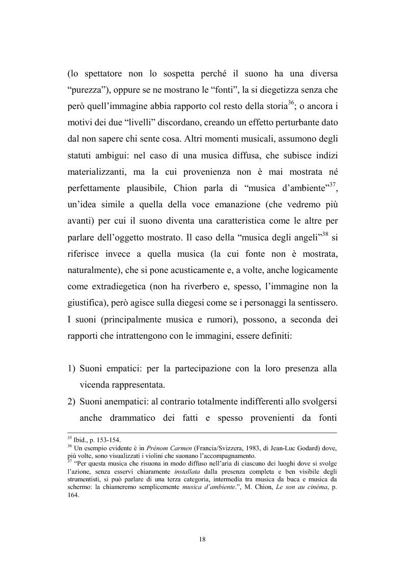 Anteprima della tesi: L'interazione suono-immagine nel cinema di Nanni Moretti, Pagina 14
