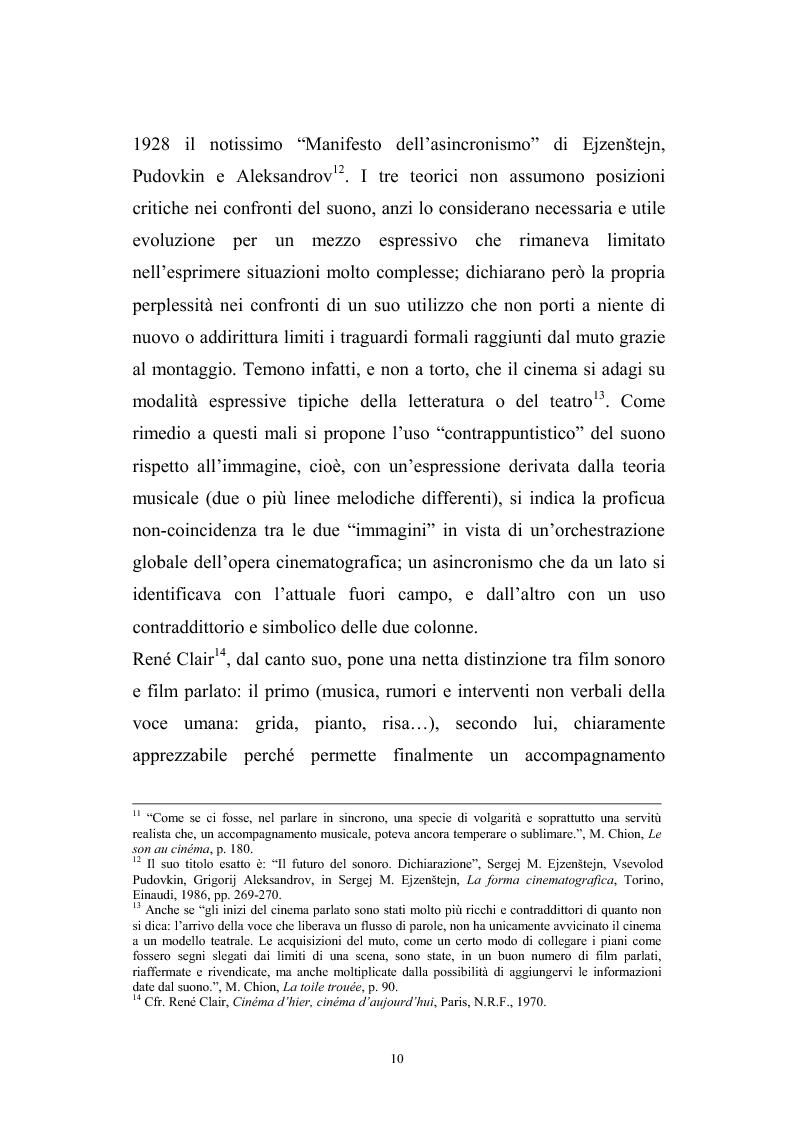 Anteprima della tesi: L'interazione suono-immagine nel cinema di Nanni Moretti, Pagina 6