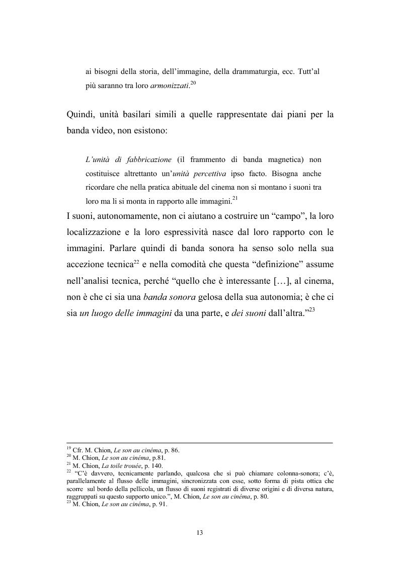 Anteprima della tesi: L'interazione suono-immagine nel cinema di Nanni Moretti, Pagina 9