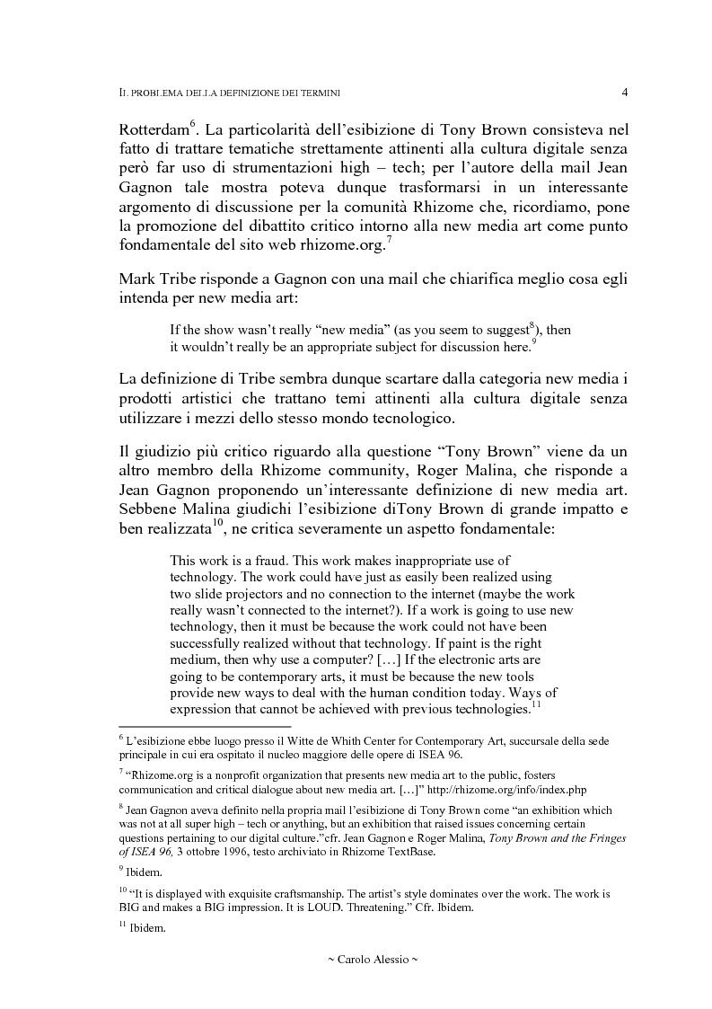 Anteprima della tesi: Arte in Rete: il sito rhizome.org, Pagina 11