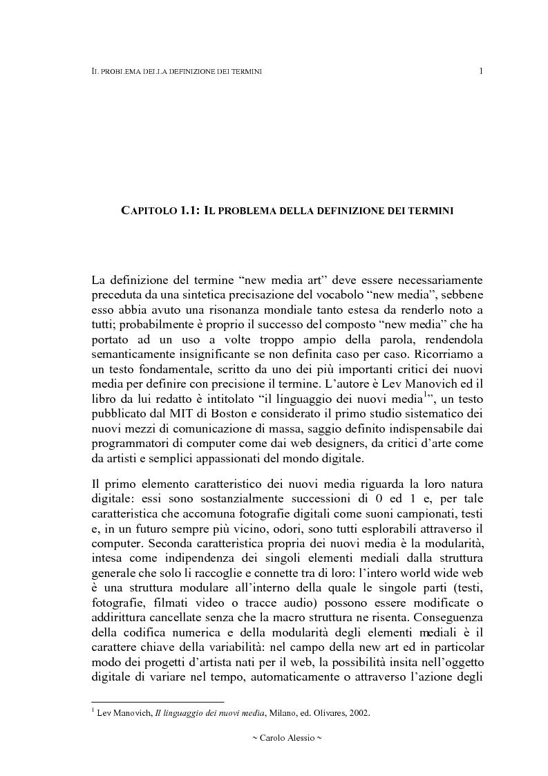 Anteprima della tesi: Arte in Rete: il sito rhizome.org, Pagina 8