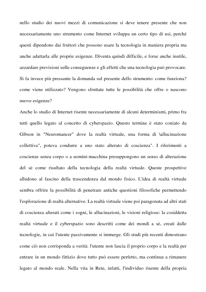 Anteprima della tesi: Real Tv e forum on line, Pagina 3