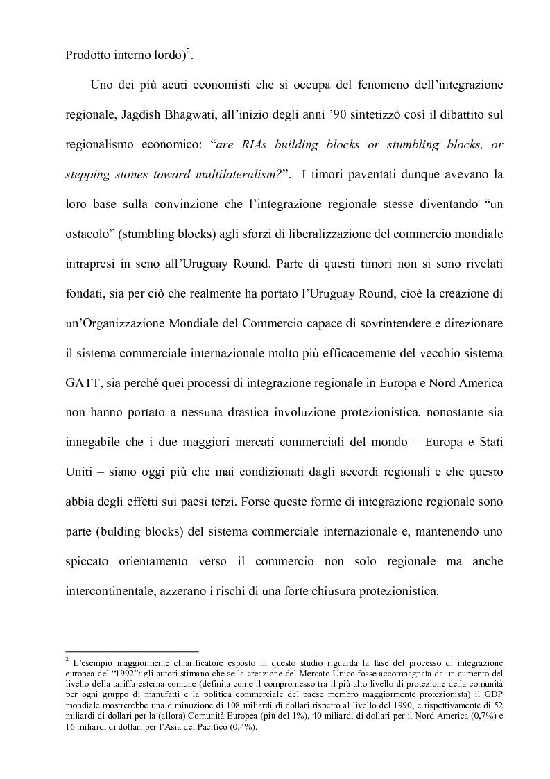 Anteprima della tesi: Globalizzazione: l'integrazione economica, la distribuzione, le politiche economiche, la tecnologia, Pagina 13