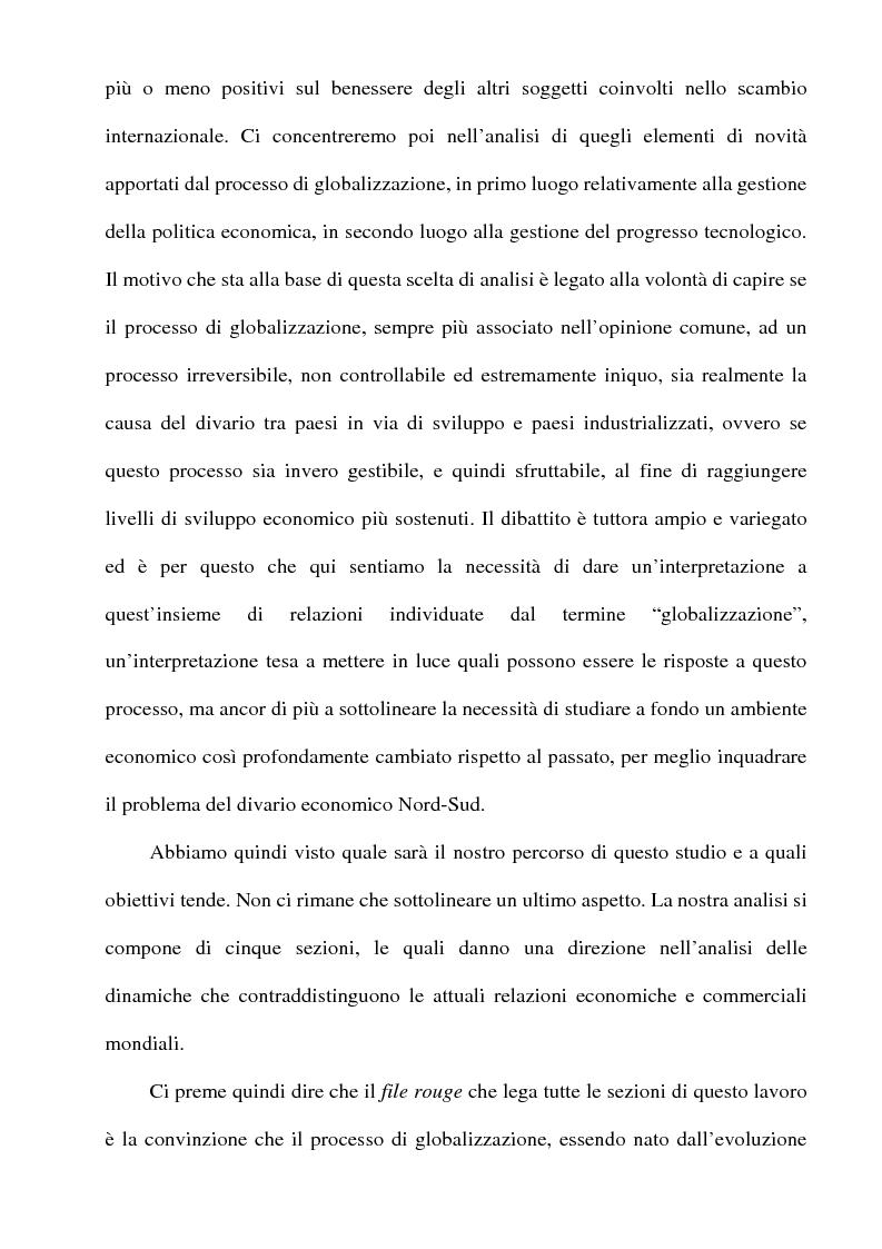 Anteprima della tesi: Globalizzazione: l'integrazione economica, la distribuzione, le politiche economiche, la tecnologia, Pagina 3