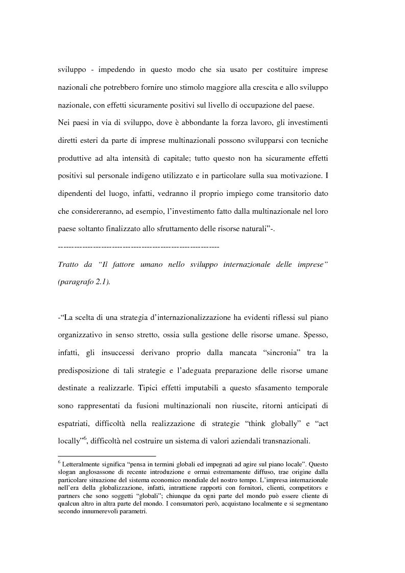 Anteprima della tesi: Le risorse umane come elemento critico nei processi di internazionalizzazione delle imprese. Il caso KME - Europa Metalli S.p.A., Pagina 8