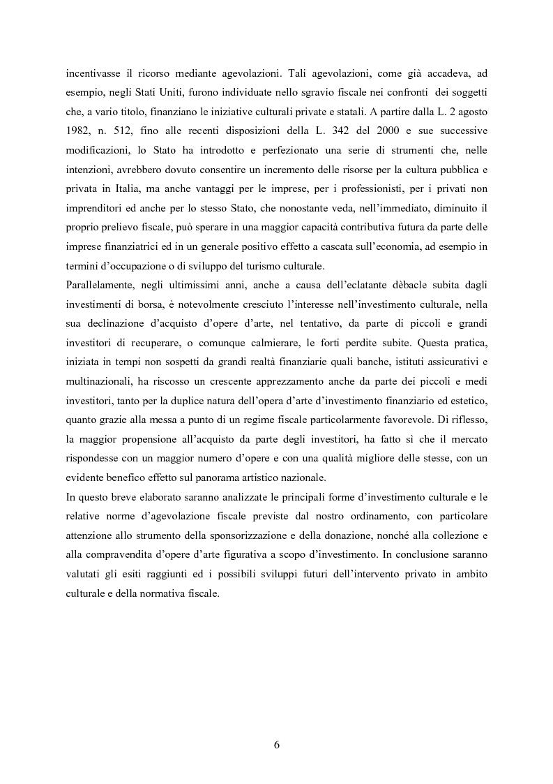 Anteprima della tesi: La defiscalizzazione dell'investimento culturale, Pagina 2