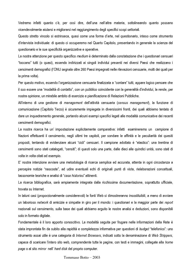 Anteprima della tesi: Le relazioni pubbliche come funzione di census management: analisi comparativa di quindici esperienze censuarie, Pagina 3