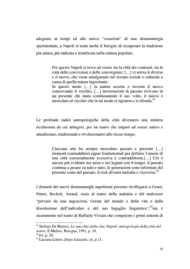 Anteprima della tesi: Il teatro di Annibale Ruccello: mass media come nuovi attori, Pagina 10