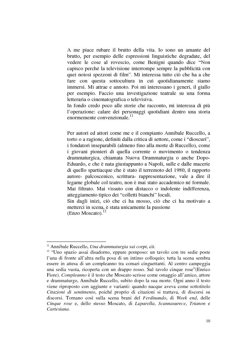 Anteprima della tesi: Il teatro di Annibale Ruccello: mass media come nuovi attori, Pagina 6